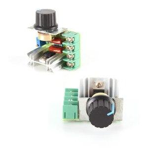 1 Uds PWM, 2000W AC controlador de velocidad del Motor 50-220V 25A ajustable controlador de velocidad del Motor regulador de tensión