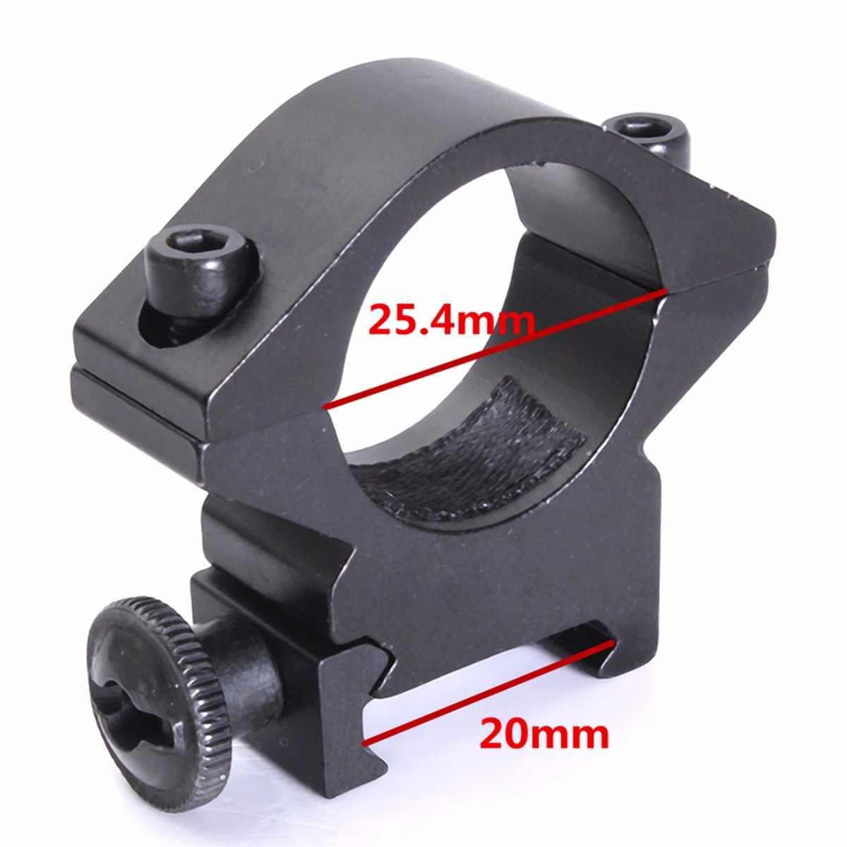 פנס מחזיק אופטי סוגר 25.4mm נמוך פרופיל היקף טבעת חור-הר לפיד הר מחזיקי Fit עבור 20mm יבר מסילות