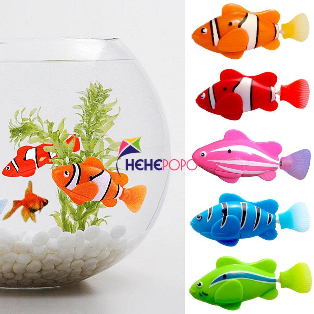 5 Pcs / Set Robot Fish Swim Toy Battery Included Robotic Pet For Kids Electronic Bath Toy Act Like Real Fish