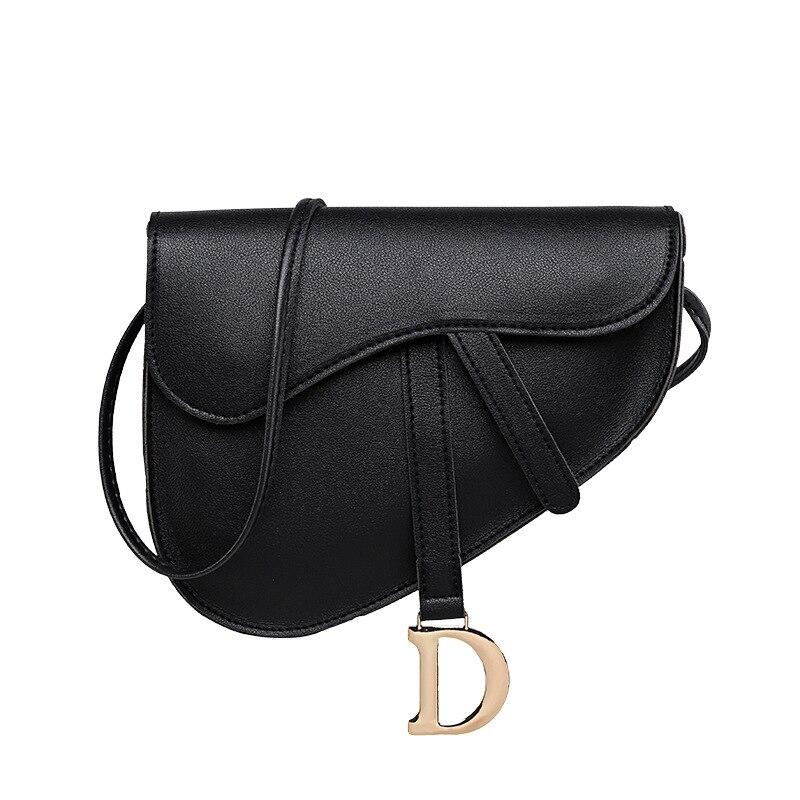 Bag Women's 2020 New Style Retro Saddle Simple Messenger Bag D Word Horseshoe Buckle Crossbody Handbag