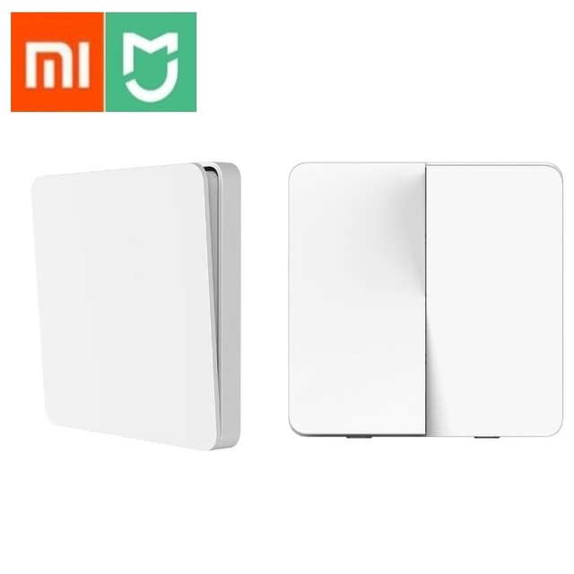 Original Xiaomi Mijia สมาร์ทสวิทช์สวิทช์คู่เดียวเปิด Dual Control 2 โหมดกว่าโคมไฟอัจฉริยะสวิทช์ไฟ
