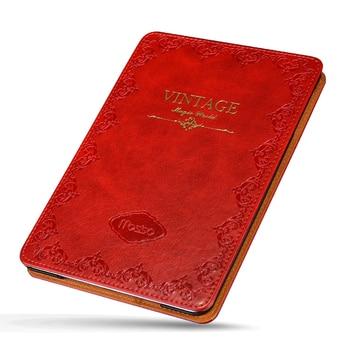 For iPad mini1 2 3 Vintage Leather Case Waterproof Retro Print Tablet Flip Stand Smart Cover for Apple mini4 mini5
