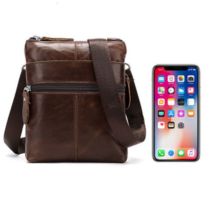 New Messenger Bag Men's Shoulder Genuine Leather Bags Flap Small Male Man Crossbody Bags For Men Natural Leather Bag Bolsa Crossbody Bags     - title=
