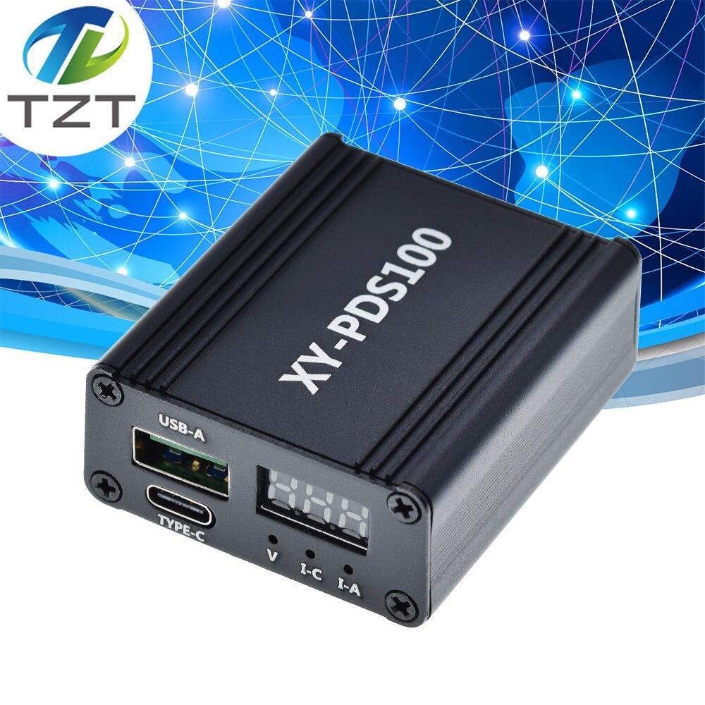 DC12-28V 100W PD автомобильное зарядное устройство настольное зарядное устройство с двумя портами VOOC PD3.0 мгновенная зарядка QC4 + понижающий модуль ...