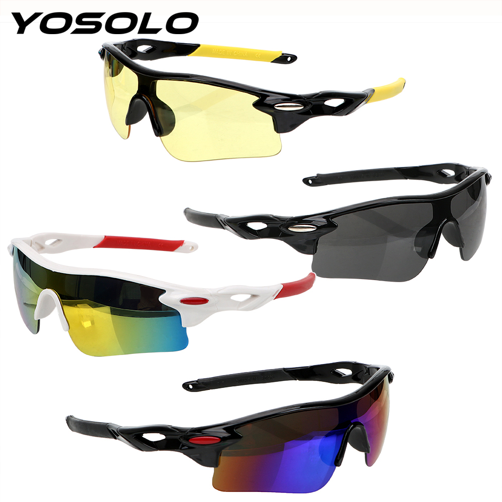 YOSOLO Car Night-Vision <font><b>Glasses</b></font> UV Protection Night Vision <font><b>Drivers</b></font> Goggles Explosion-proof Motocross Sunglasses Car Accessories image