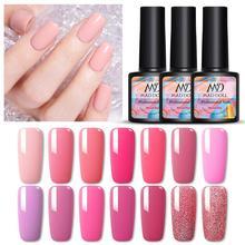 MAD DOLL, 8 мл, 60 цветов, Гель-лак для ногтей, розовый, красный, зеленый, чистый цвет для ногтей, отмачиваемый УФ-Гель-лак, лак для маникюра, Гель-лак
