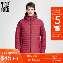 Striped-Jackets Parka Tiger-Force Outerwear Hood Warm Coat Zippers Men with High-Quality