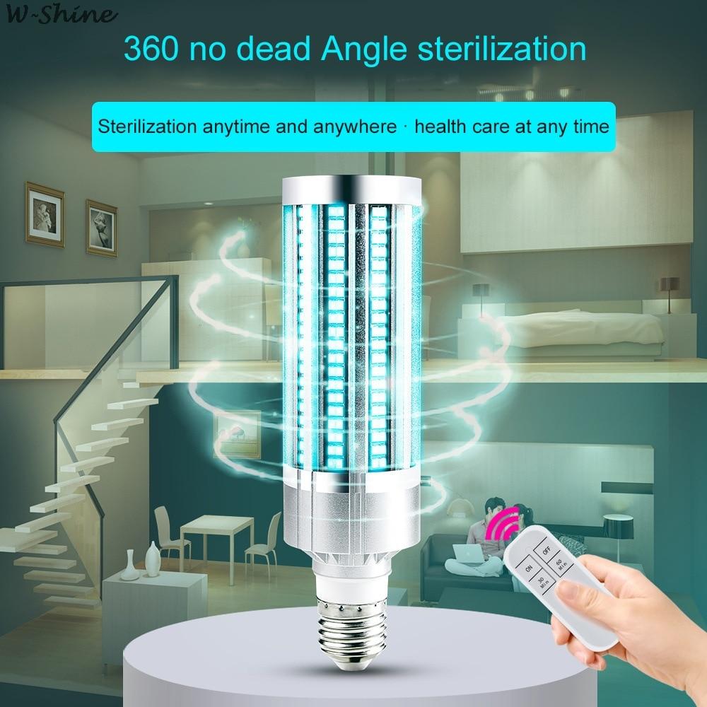 2020 Newest 60W UV Germicidal Light Led UVC Light Bulb E27 Germicidal Lamp Remote Control Timing Killing Virus Mite Bacteria