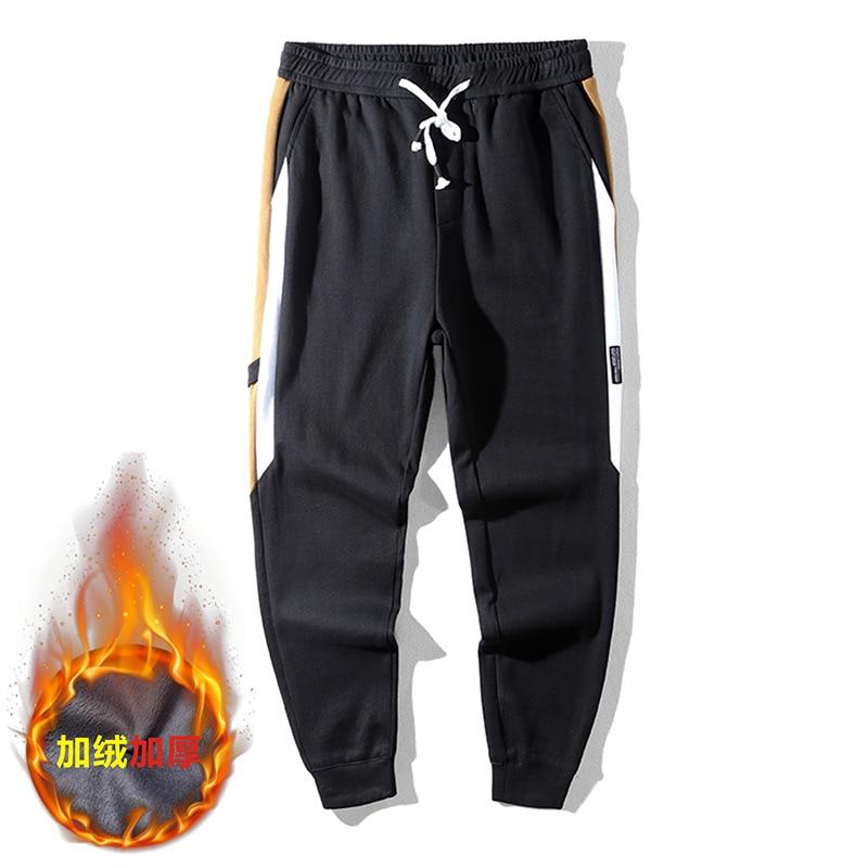 Casual Sweatpants Color-Block Sportswear Joggers Fitness Side-Stripe Male Cotton Big-Size