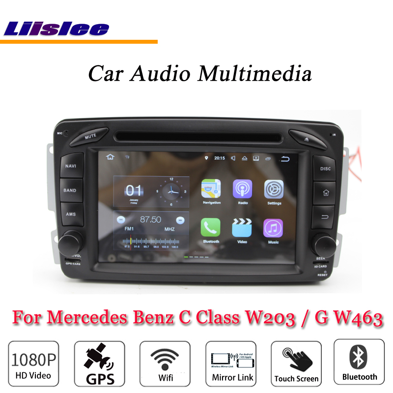 Liislee Car Android Multimedia For Mercedes <font><b>Benz</b></font> C Class <font><b>W203</b></font> / G W463 2000~2012 Car <font><b>Radio</b></font> Stereo GPS Map <font><b>Navi</b></font> Navigation System image