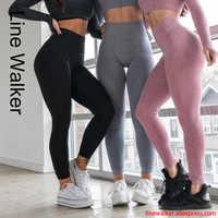 Taille haute sans couture pantalons de Yoga pousser Leggins Sport femmes Fitness course Leggings énergie sans couture pantalon maigre gymnastique fille Leggins