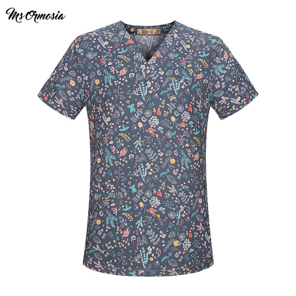 Medical Surgical Uniform Pharmacy Hospital Nurse Scrub Tops Breathable Beauty Salon Work Shirts Pet Doctor Overalls Spa Uniform