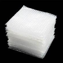 Pochette en plastique, papier bulle, 5 taille 50 pièces, transparent, enveloppe de protection blanc, mousse d'emballage antichoc, double film amortisseur,