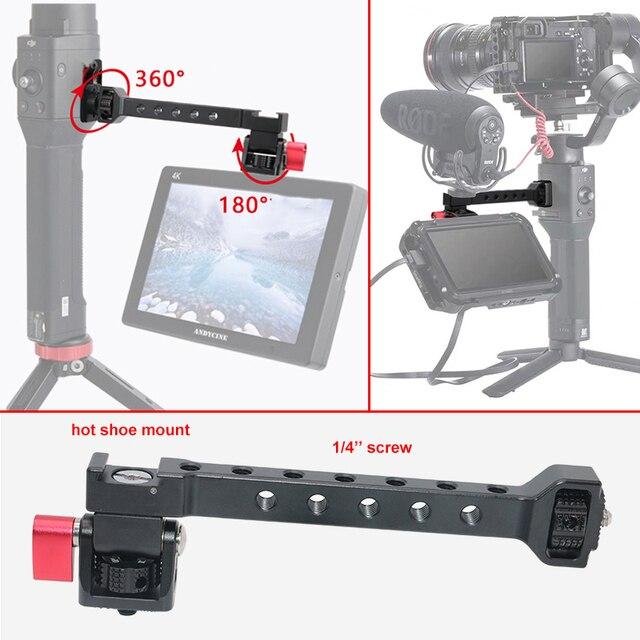 for Dji Ronin S SC ZHIYUN Weebill Crane 3 Gimbal Camera Monitor Stand Barcket with 1/4 Hot Shoe Mic Flash Light Stand Holder