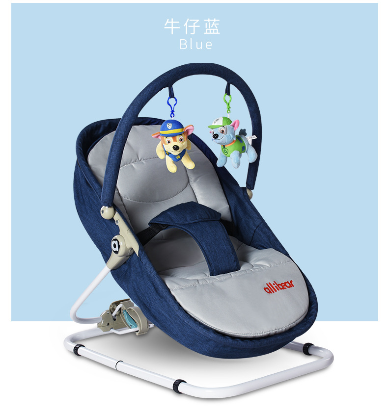 Ha6655c5e2f2b4114ae85ffbd9747f3eaZ Baby Swing Baby Rocking Chair 2 in1 Electric Baby Cradle With Remote Control Cradle Rocking Chair For Newborns Swing Chair
