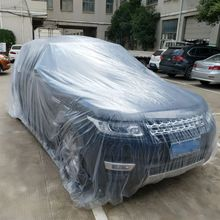 Portable Disposable Transparent Waterproof Car Cover Dustproof Foldable Covers