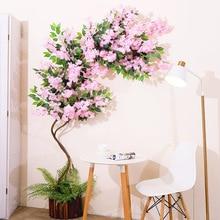 5 teil/los Kirschblüten Baum Künstliche Blumen 3 Gabel Sakura Blumen Zweig Seide DIY Hause Hochzeit Hintergrund Wand Dekoration