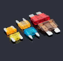 10PCS Car Fuse Insert Kit Small and Medium Mini 5A 7.5A 10A 15A 20A 30A 35A Blade Motorcycle Truck SUV Car Replacement Fuse