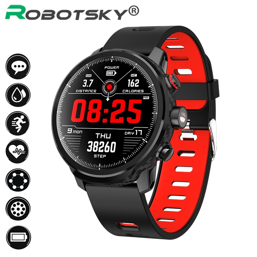 L5 Smart Watch Bluetooth Smartwatch IP68 Waterproof Multi Sports Mode Heart Rate Weather Forecast Wristband 7 Days Battery Life image