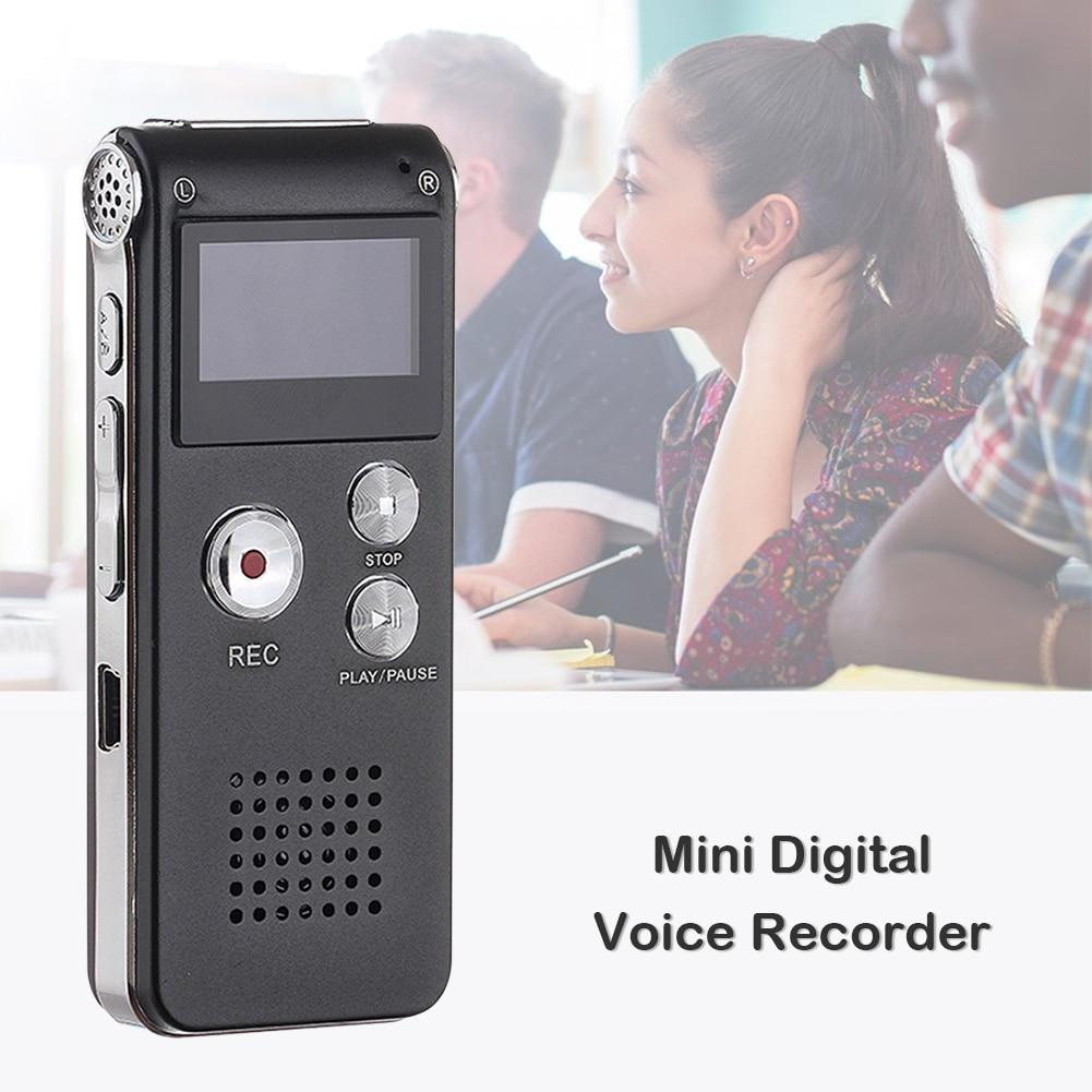 Voice Activated Digital Audio Recorder Professional Mini Voice Recorder Pen 8GB Portable Digital MP3 Dictaphone