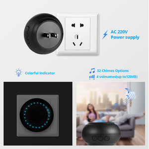 Image 4 - KERUI M523 Wireless Doorbell Kit Waterproof Touch Button 32 Songs Colorful LED light Home Security Smart Chimes Doorbell Alarm