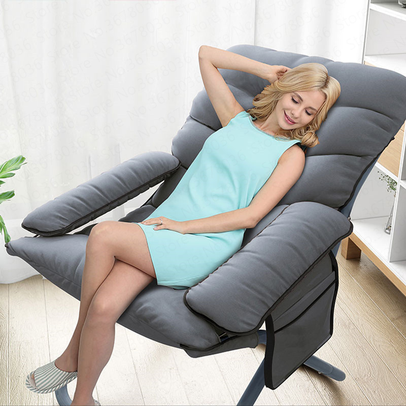 European Lazy Couch Chair Dormitory Single Computer Lounge Chair Home Bedroom Modern Minimalist Balcony Room Folding