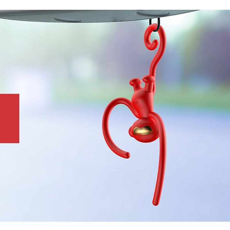 Украшения для интерьера автомобиля аромат освежитель воздуха для автомобиля милая кукла обезьяна подвесное украшение запах автомобиля духи автомобиль Стайлинг - Название цвета: Красный