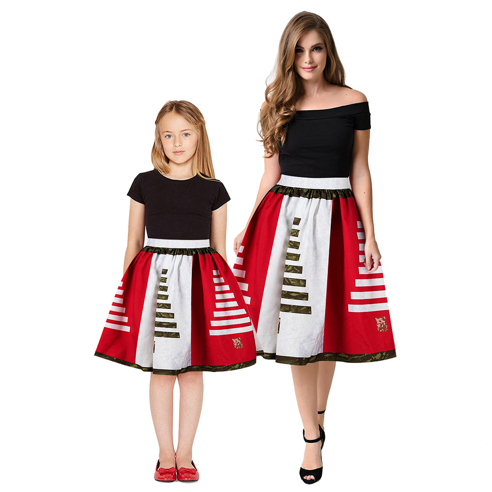 Christmas Girls Dress Teens Girls Party Dresses For Girls Family Matching Outfits New Year Mom Daughter Dresses Carnival Dress (7)