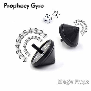 Magic Tricks Prop Funny Prediction Spinning Top Children Toy Gyro Birthday Gift image