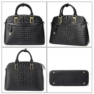 Image 3 - Bolso pequeño de piel de cocodrilo para mujer 2019 Qiwang bolso de mano de lujo de diseñador para mujer 100% bolsos de hombro de piel auténtica para mujer