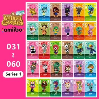 Tarjeta de Animal croxxxing n. ° 031 ~ 060 Amiibo, para juegos...