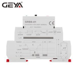 Image 5 - משלוח חינם GEYA GRB8 01 דמדומים מתג עם חיישן AC110V 240V הפוטואלקטרי טיימר אור חיישן ממסר
