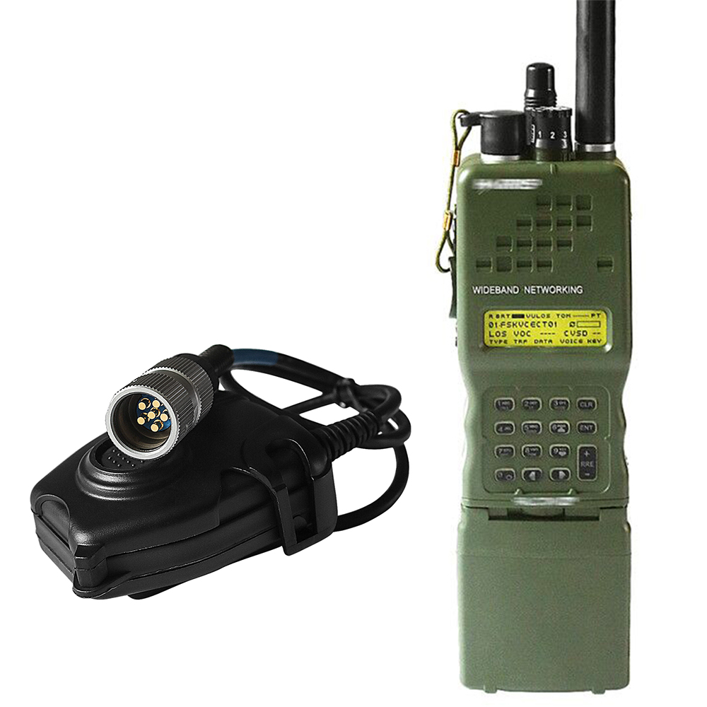 PRC-152 PRC 152 Harris Dummy Radio Case ,Military Talkie-Walkie Model For Baofeng Radio,No Function+ Peltor 6 Pin PTT Plug
