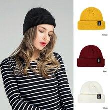 YEABIU Зимняя Шапка-бини для девочек унисекс вязаная кепка с дыней для мальчиков теплая Женская Мужская шапочка из спандекса мешковатая Лыжная Матросская шляпа зимняя женская шапка