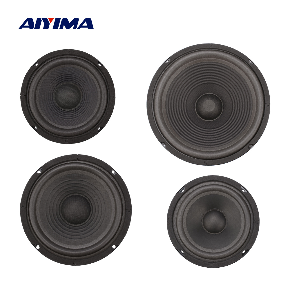 AIYIMA 2Pcs Woofer Speaker Passive Radiator Diaphragm Radiator Rubber Vibration Membrane DIY Speaker Repair Part Accessories