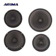 Aiyima 2 pçs woofer alto falante passivo radiador baixo impulso auxiliar diafragma membrana de vibração de borracha 5/6/8/10 Polegada