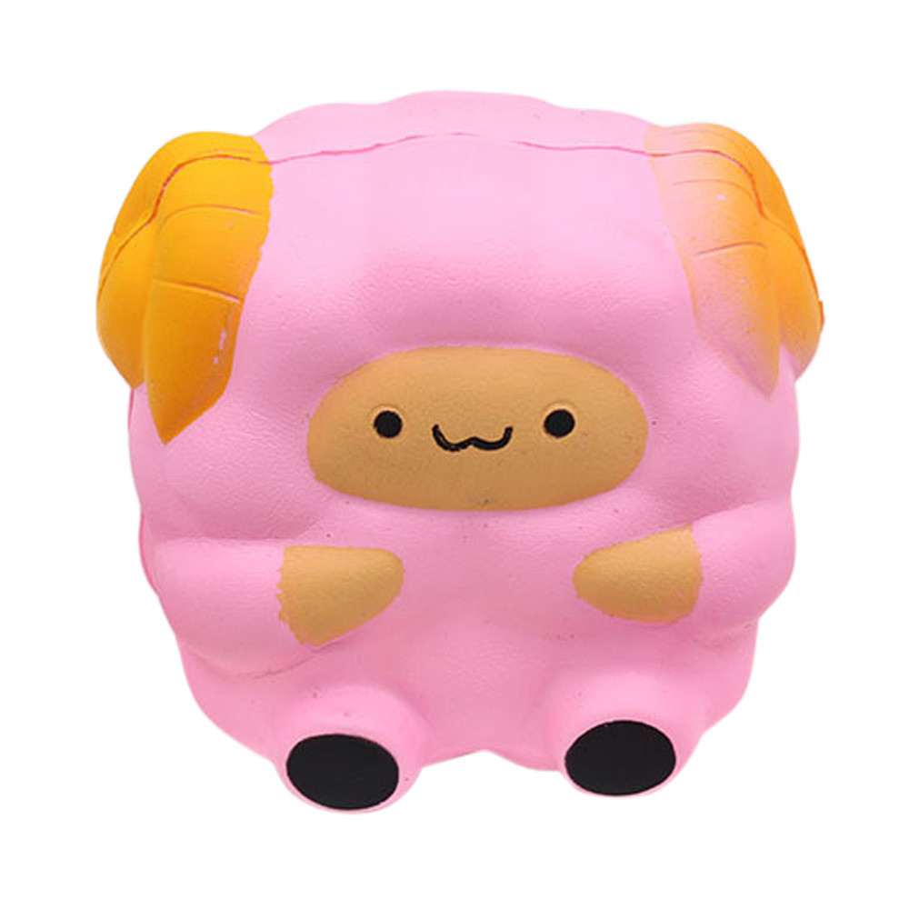 Cartoon Sheep Slow Rising Stress Reliever Toy Squeeze Animals Pressure Relief Toy Decoration Doll Stretchy Healing Toys #B