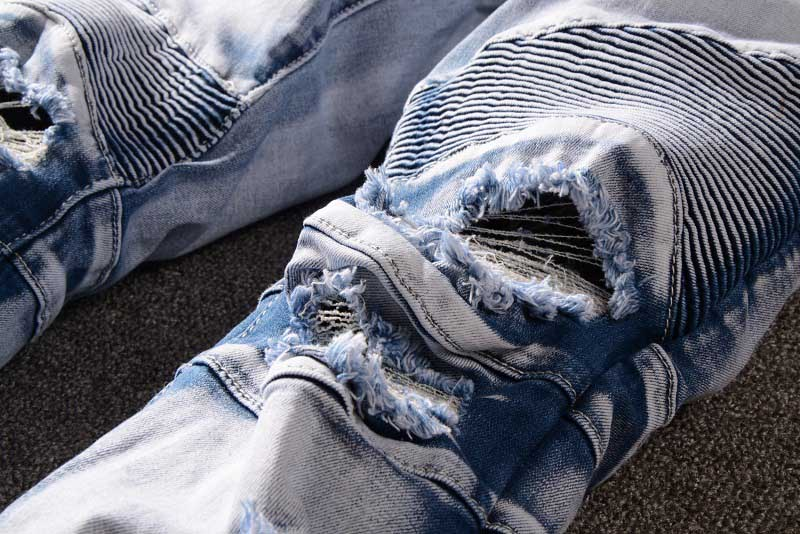 Mcikkny Men`s High Street Ripped Denim Trousers Washed Destroyed Distressed Jeans Pants For Male Size 29-42 Straight (3)
