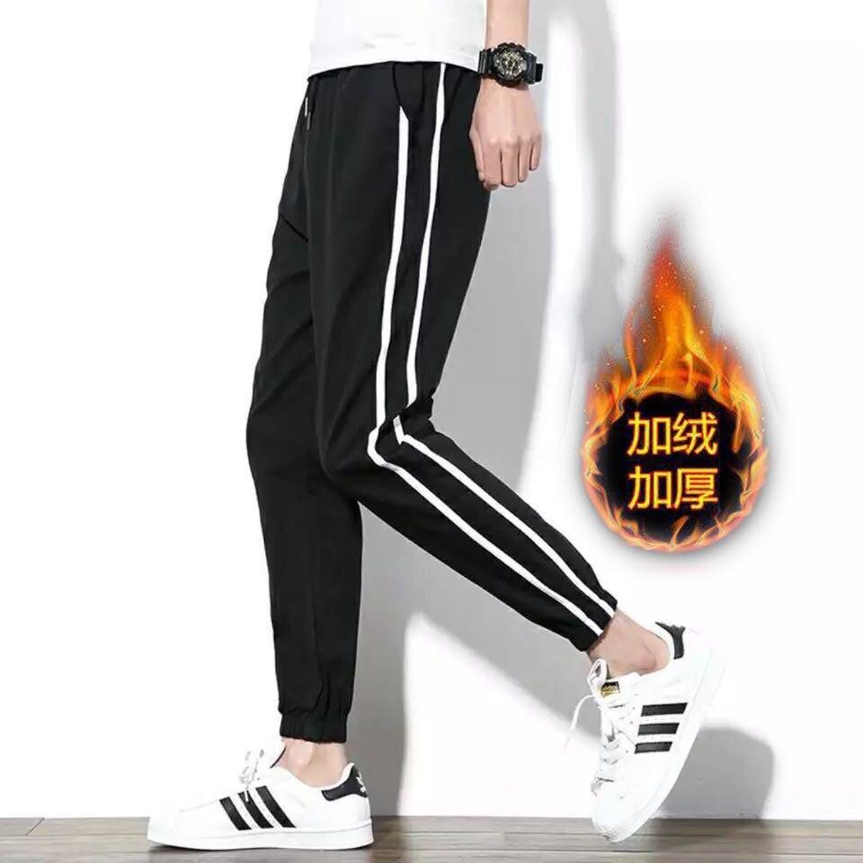 Athletic Pants Men's Korean-style Trend Casual Pants Autumn Men Hong Kong Style Beam Leg Loose-Fit Skinny Teenager Capri Pants S