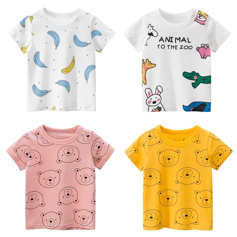 Cotton Kids T-Shirt Children Summer Cartoon Short Sleeve T-Shirts For Girls Clothes  Baby T Shirt Toddler Tops Clothing New 2020