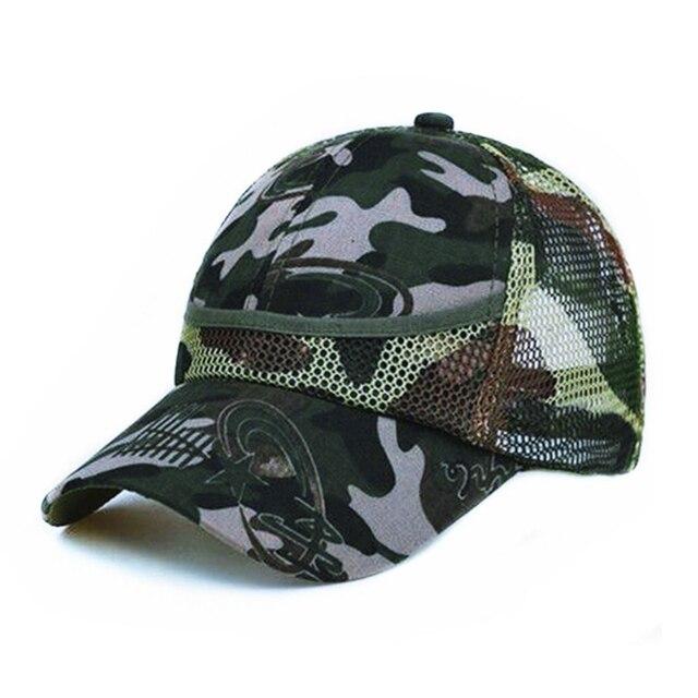 Outdoor Camouflage Boy's Mesh Baseball Cap 2