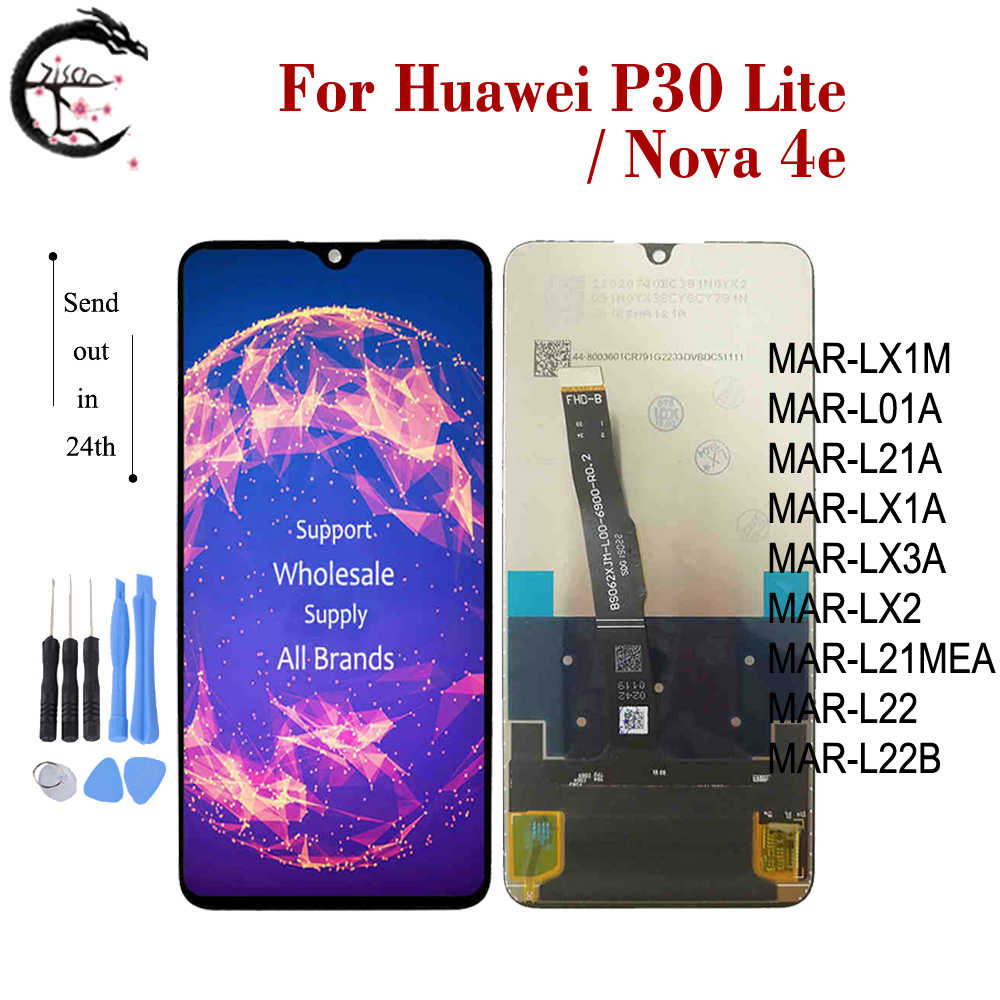 <font><b>LCD</b></font> For Huawei <font><b>P30</b></font> lite MAR-L01A LX1A LX2 L21A L21MEA L22A LX3A Full <font><b>LCD</b></font> Display Screen Touch Digitizer Assembly Nova 4e Display image