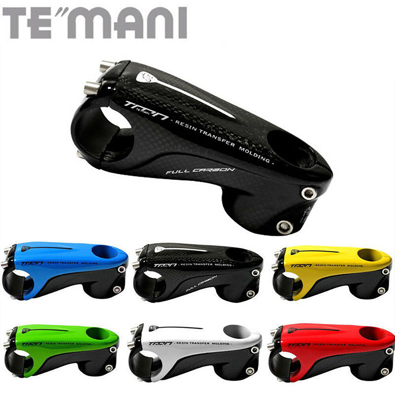 TEMANI MTB <font><b>Bike</b></font> <font><b>Handlebar</b></font> <font><b>Stems</b></font> Mountain <font><b>Road</b></font> Bicycle <font><b>Stem</b></font> <font><b>Carbon</b></font> Fiber 31.8*80/90/100/110mm Light Weight 1-1/8