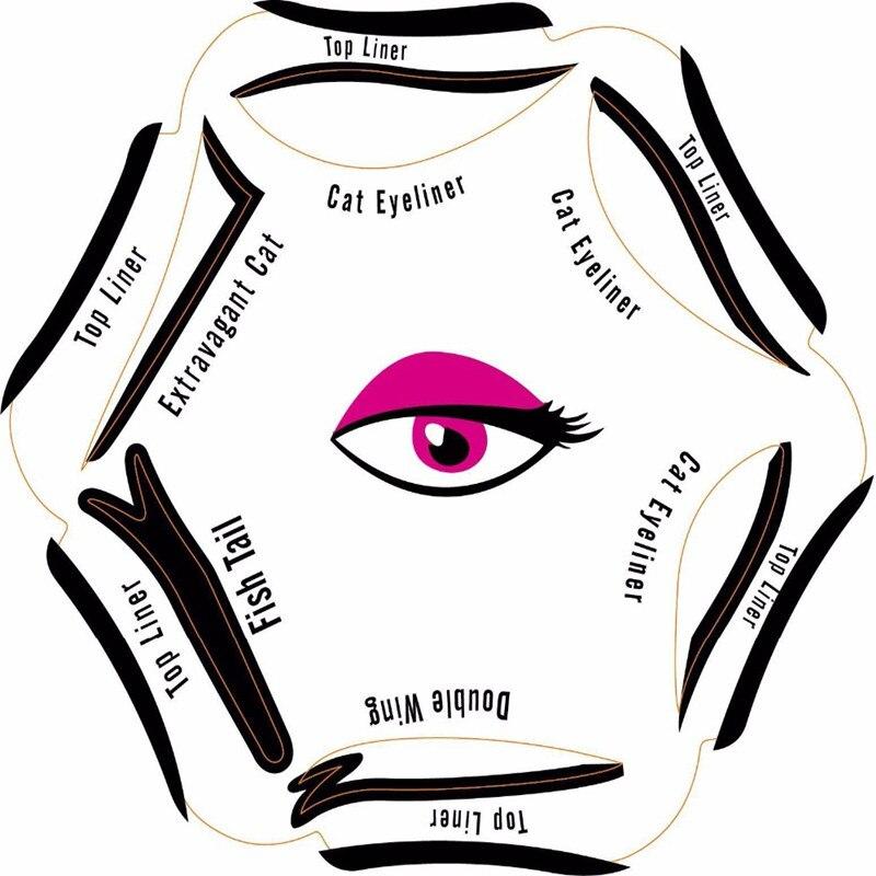 Eyeliner Stencil 6 In 1 Templates Pochoir Eye Liner Eyebrow Stencil Gabarit Pour Sourcil Pochoir Maquillage Makeup Stencils