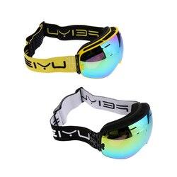 2 sztuka dla dorosłych profesjonalne narty Snowboard gogle śnieżne ochrona UV Anti fog VLT 16.6% w Okulary rowerowe od Sport i rozrywka na