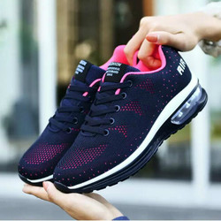 Fashion Sneakers Women Breathable Mesh Sport Shoes Air Cushion Running Shoes for Women Casual Lightweight Jogging Fitness Shoes