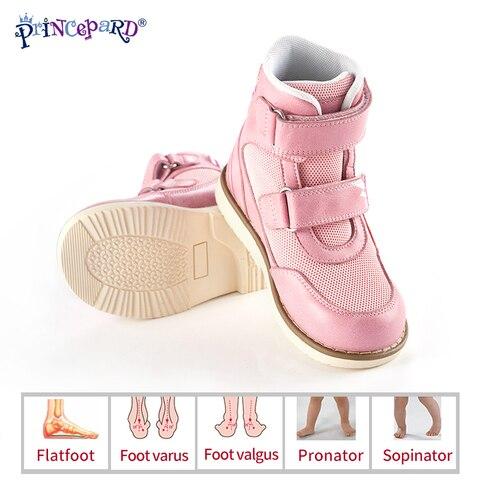 princepard 2019 primavera outono criancas sapatos ortopedicos para criancas couro genuino tamanho europeu 19