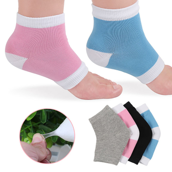 1 Pair Soft Massager Smooth SPA Gel Socks Pain Relief Reusable Moisturizing Socks Heel Dry Hard Skin Protector Anti Craking Tool image