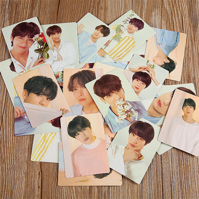 Hot KPOP Card Bangtan Boys Album MAP OF THE SOUL PERSONA Collection FINAL Photocard Self Made Paper Cards LU6688