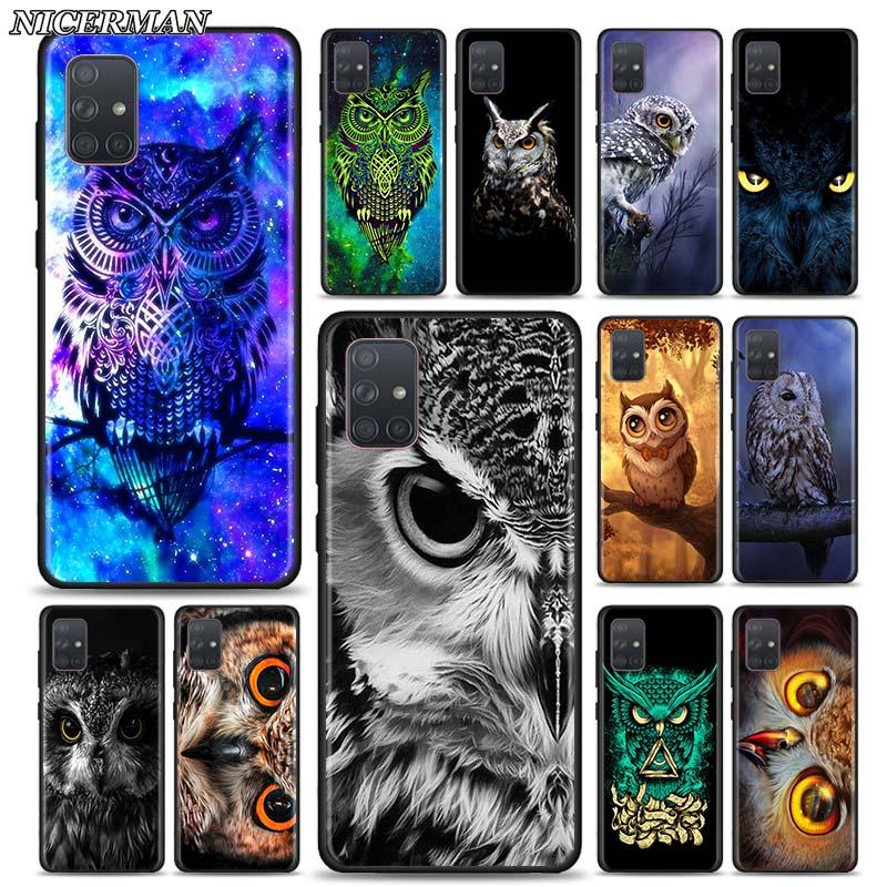 Soft Case For Samsung Galaxy A70 A50 A40 A30S A20S A10 A10E A01 A21 A51 A71 Phone Fall Thin Shell Cover Animal Owl
